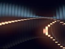 Falowego zespołu tła powierzchni 3d abstrakcjonistyczny rendering Zdjęcie Royalty Free