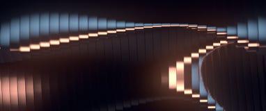 Falowego zespołu tła powierzchni 3d abstrakcjonistyczny rendering Obraz Stock