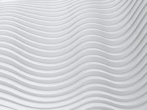 Falowego zespołu tła powierzchni 3d abstrakcjonistyczny rendering Fotografia Royalty Free