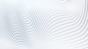 Falowego zespołu tła powierzchni 3d abstrakcjonistyczny rendering Obrazy Royalty Free