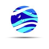 Falowej tło wody abstrakcjonistyczny ilustracyjny błękit Obraz Royalty Free