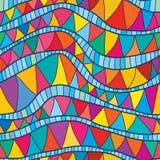Falowy błękitny kolorowy kreskowy bezszwowy wzór Zdjęcie Royalty Free