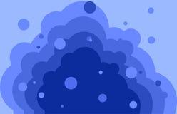Falowy błękitny tło z bąblami Obrazy Stock