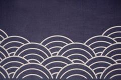 Falowy chorągwiany japoński styl Obraz Stock