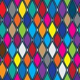 Falowy kolorowy bezszwowy wzór Zdjęcie Royalty Free