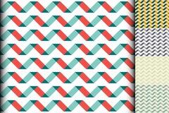 Falowy kolorowy geometryczny bezszwowy wzór Zdjęcie Royalty Free