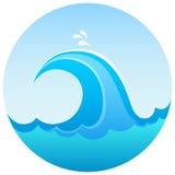 Falowy morze symbol ilustracja wektor