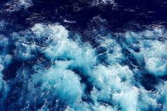 Falowy ocean wody tło Fotografia Royalty Free