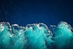 Falowy ocean wody tło Obraz Stock