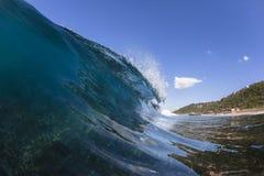 Falowy Wodny błękit Zdjęcia Royalty Free