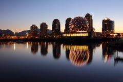 Falsche Nebenfluss-Morgen-Reflexionen, Vancouver Lizenzfreies Stockfoto