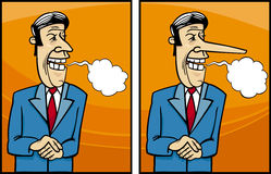 Falsche Politikerkarikaturillustration Lizenzfreie Stockbilder