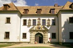 Falsches Muskau altes Schloss im Park Stockbilder