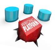 Falsches Plattform-Wort-Quadrat Peg Wrong Home lizenzfreie abbildung