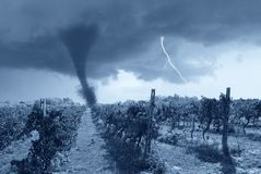 Falsches Wetter ankommend Stockfoto