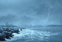 Falsches Wetter auf dem Dock Lizenzfreie Stockbilder