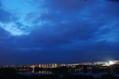 falsches Wetter an der Stadt Lizenzfreies Stockfoto