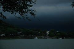 Falsches Wetter voran Stockbild