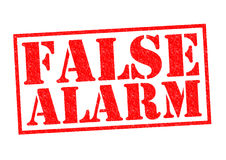 FALSE ALARM Royalty Free Stock Photos