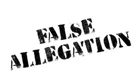 False Allegation rubber stamp Stock Photography