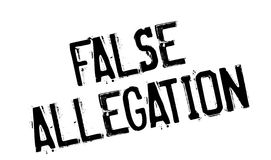False Allegation rubber stamp Royalty Free Stock Photo