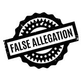 False Allegation rubber stamp Royalty Free Stock Photography
