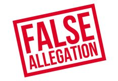False Allegation rubber stamp Stock Images