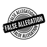 False Allegation rubber stamp Stock Image