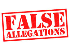 FALSE ALLEGATIONS Stock Photography