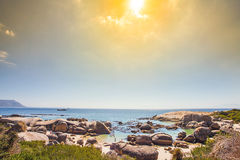 At False Bay in Simons Town. South Africa Royalty Free Stock Photos
