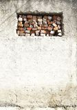 False bricks window in old wall Royalty Free Stock Image