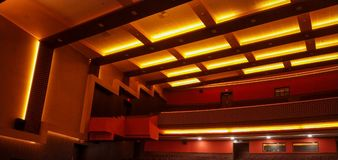 false ceiling design of auditorium royalty free stock images