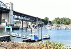 False Creek轮渡到格兰维尔海岛,温哥华,不列颠哥伦比亚省 库存图片