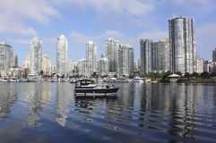 False Creek. The eastend of Vancouver's False Creek Royalty Free Stock Images