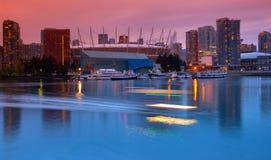 False Creek Bezirk in Vancouver Kanada lizenzfreie stockbilder
