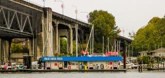 False Creek bränslen, Vancouver, F. KR. Arkivfoton