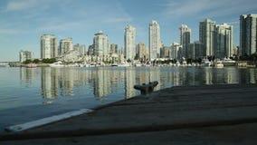 False Creek Dockside, Vancouver dolly shot stock video