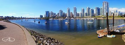 False Creek From Spyglass Dock At Cambie Bridge, Vancouver Royalty Free Stock Photo