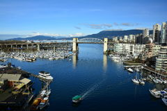 False Creek and Granville island Vancouver Canada Stock Photos