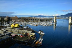 False Creek and Granville island Vancouver Canada Royalty Free Stock Photos