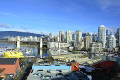 False Creek and Granville island Vancouver Canada Royalty Free Stock Photography