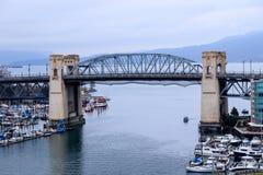 False Creek between Granville Street Bridge and Burrard Street B. Ridge, Vancouver in Canada Stock Photography