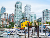 False Creek Harbour and buildings royalty free stock images