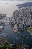 False Creek i stadens centrum Vancouver arkivfoton