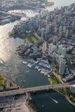 False Creek i stadens centrum Vancouver arkivbild