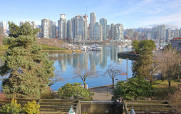 False Creek Inner Harbor and Vancouver Skyline Royalty Free Stock Image