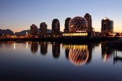 False Creek Morning Reflections, Vancouver Royalty Free Stock Photo