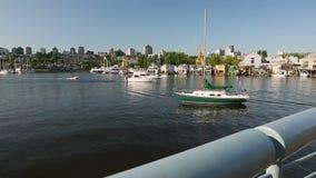 False Creek Morning Yacht stock video