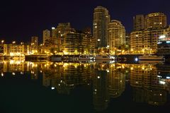 False Creek Night Reflections Stock Photography