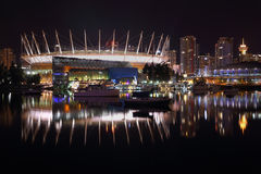 False Creek Night, Vancouver Stock Photo
